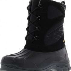 Hi-Tec barbati Hokkaido Waterproof Black / Grey Mid-Calf Snow Boot, 45