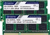 Kit Memorie Laptop, Timetec Hynix, IC 16GB (2x8GB) PC3L-12800 DDR3L, Unbuffered 1.35V / 1.5V, CL11, 2Rx8, Dual Rank 204 PIN