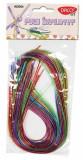 Set 30 fire impletite din plastic - culori asortate, Daco Art