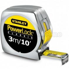 Ruleta PowerLock STANLEY cu marcaj Metric-Imperial 3m/10ft x 12.7mm