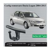 Carlig remorcare Dacia Logan 2004-2013 tip semidemontabil AutoHak