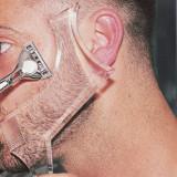 Set profesional sablon contur barba transparent + Brici profesional MyStyle