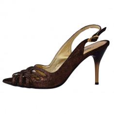 Sandale dama, din piele naturala, Endican, B1212-12, auriu