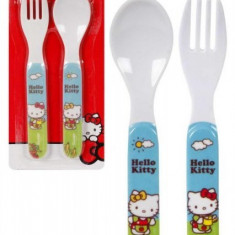 Set lingura si furculita copii, Hello Kitty