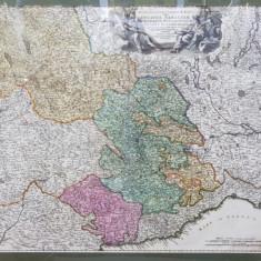 Johann Baptist Homann - Regiae Celsitudinis Sabaudicae Status in quo Ducatus Sabaudiae, Principatus Pedemontium et Ducatus Montisferrati ... Harta cca