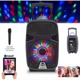 "Idance Boxa portabila acumulator Li-Ion 8"" microfon wireless Disco Ball Bluetooth / USB"