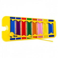 Xilofon de jucarie, 24x11x2cm, multicolor