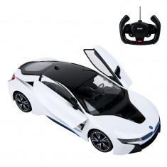 BMW I8 cu telecomanda, 44 x 25.5 x 20 cm, Alb/Negru