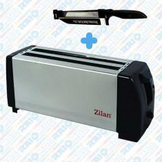 Prajitor de pâine dublu ZILAN din inox, 1300W , 4 felii, termostat reglabil