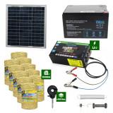 Pachetgard electric cuPanousolar2,5J putere și10.000mFir160Kgcu acumulator 12Ah