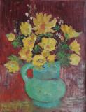Tablou – Cană cu flori, pictură românească