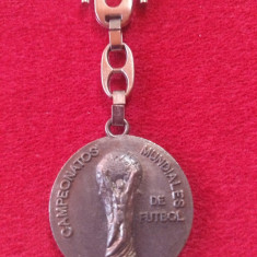 Breloc metalic fotbal - Campionatul Mondial din SPANIA 1982