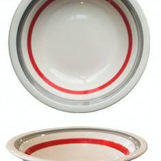 Farfurie ceramica, 21cm, cu dunga rosie, Keramik, 0121128,