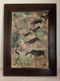Pictura de artă rupestră Altamira - Vânătoare preistorică, Scene lupta, Pastel, Altul