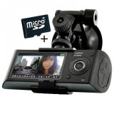 Cumpara ieftin Camera Auto Dubla Cu GPS iUni Dash X3000 Plus, display 2.7 inch + Card 16GB Cadou