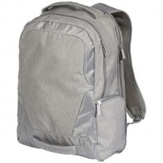 Rucsac Laptop cu USB port, Everestus, OD02, 17 inch, 600D PolyCanvas, gri deschis, saculet si eticheta bagaj incluse