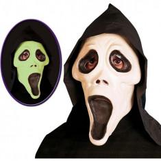 Masca Scream fosforescenta Widmann foto