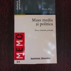 MASS MEDIA SI POLITICA - DORU POP