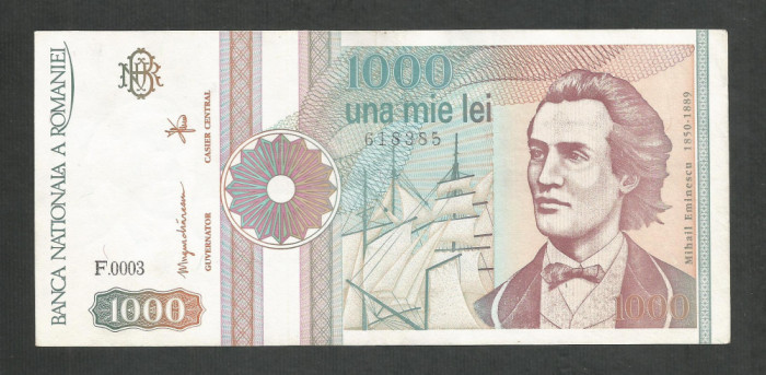 ROMANIA  1000  1.000  LEI  1991  [04]  a  UNC  , necirculata , cu punct