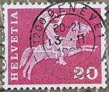Elvetia Postrider (secolul al XIX-lea), Istorie, Stampilat