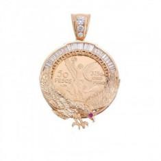 Lant Barbati cu Medalion 50 pesos Centenariu Vultur
