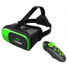 Ochelari VR Esperanza EGV300R 3D cu telecomanda Bluetooth Green