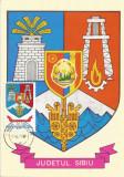 România, LP 942/1977, Stemele judeţelor (E-V), (uzuale), c.p. maximă, Sibiu