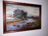 Peisaj rural – pictură românească, Peisaje, Ulei, Impresionism