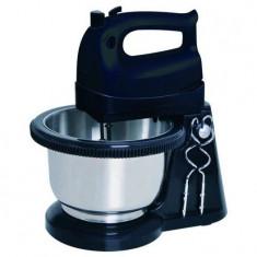 Mixer cu bol Studio Casa BSC183, 300 W, bol rotativ, 2 l, 5 viteze, negru/inox
