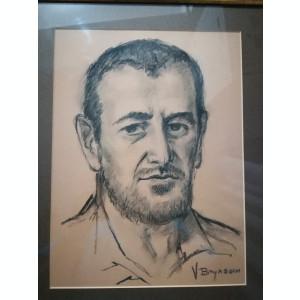 Grafică realizată de artistul ieșean Vasile Brânzan