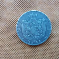 ROMANIA 5 LEI 1883  CAROL I