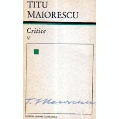 Critice, vol. 2 (Maiorescu)