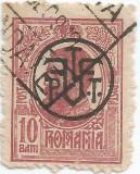 România, LP 71I/1918, Carol I cu supratipar monogramă P.T.T.-F.F., eroare 1