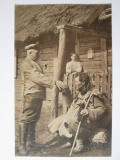 Rara! Carte postala,,Barbari''germani''pe teritoriul inamic,cir.1917 Reg.327 Inf, Germania, Circulata, Printata
