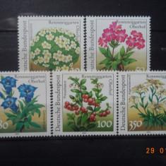 1991  Germania Mi 1505 - 1509  Flora**  Serie completa., Nestampilat