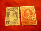 2 Timbre Spania - Crucea Rosie - Fam. Regala , sarniera