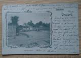 Cp Salutări din Craiova : Fântâna Jianu - circulata 1900 (UPU), Fotografie