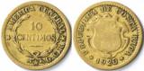 10 centimos, 1920 Costa Rica - tiraj mic 850.000 piese - Rara!