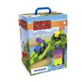 Joc de construit Jumpy Miniland, 33 piese, 2 personaje, 2 vehicule