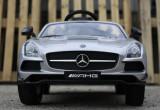 Masinuta electrica pentru copii Mercedes SLS AMG, Scaun tapitat #Silver