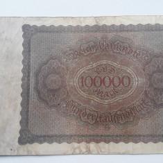 100000 Mark 1923 Germania marci vechi