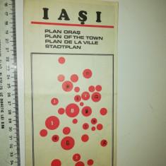 HARTA IASI / RSR - PLANUL ORASULUI = ONT