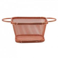 Cos de metal patrat pentru servire cartofi prajiti, snacks, 01981213, 6.5x9x10cm