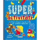 Carte pentru copii Super activitati, 96 pagini, 2 abtibilduri, 4 ani+