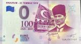RARR : 0 EURO SOUVENIR - TURCIA , KEMAL  ATATURK , 23 TEMMUZ 1919 - 2019.1 - UNC