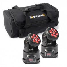 Beamz Efect de lumină Beamz, set cu geantă de transport, 2x MHL-74 Moving-Head Mini Wash & 1x Soft Case