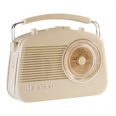 Radio AM/FM Konig, design retro, Ivoir