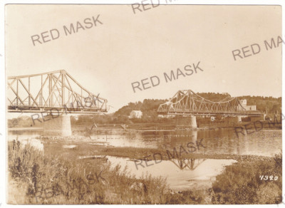 5150 - CERNAUTI, Bucovina, Bridge distroyed ( 16/12 cm ) - old postcard - unused foto