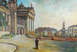 Tablou pictura panza - Teatrul National din Iasi, Istorice, Ulei, Realism