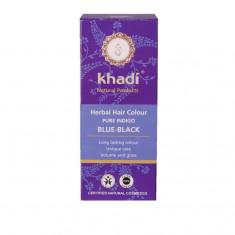 Negru Indigo Khadi - vopsea de par naturala